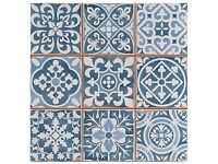 Tapestry blue tiles - Moroccan design