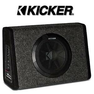 "OB KICKER SUBWOOFER 10"" PT250 214039108 WITH BUILT-IN 100W AMPLIFIER OPEN BOX"