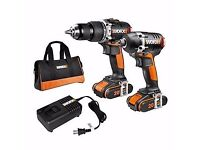 WORX WX918 20 V Lithium-Ion Brushless Motor Impact Driver and Hammer Drill
