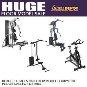 Floor Model SALE Home Gym Multi Gym Spin Bike Lat Machine