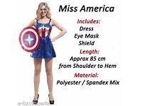 Ladies Superhero - Miss America Costume