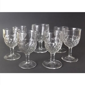 EAPG 6 Goblets in the Honeycomb Pattern