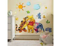 DISNEY WINNIE THE POOH AND FRIENDS WALL DECOR STICKERS