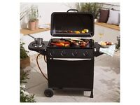 TESCO 4 BURNER GAS BBQ WITH SIDE BURNER