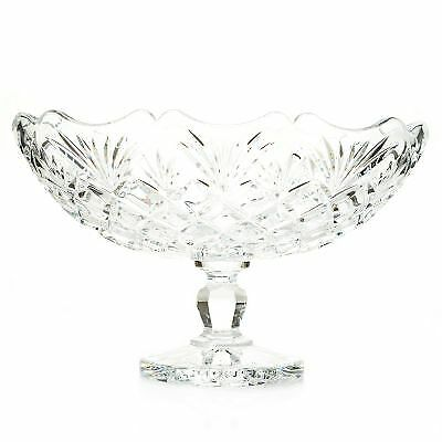 Waterford Crystal Irish Treasures 10.5 Diamond Cut Footed Bowl Signed