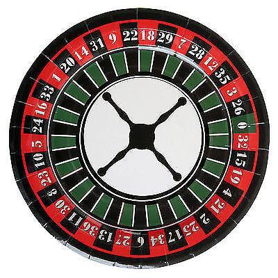 Teller Casino- / Roulett- / Pokerparty Dekoration Silvester Mottoparty Fete Fest