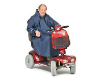 Mobility Poncho Sleeved Unlined Scooter or Wheelchair.