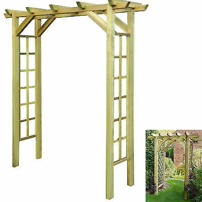 Outdoor Wooden Impregnated Trellis Arch Garden Gazebo Patio Pergola Archway Yard