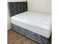 ☀️☀️EXCELLENT QUALITY☀️☀️ NEW DIVAN FULL CRUSHED SINGLE-DOUBLE-SMALL DOUBLE & KING SIZE BED BASE