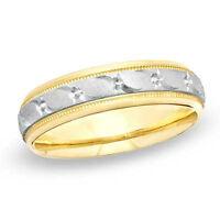 Men's 14K Two tone Gold Wedding Ring
