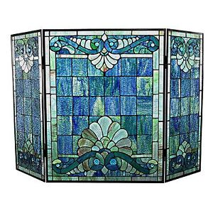 River of Goods 15047 Tiffany Style Stained Glass Swirling Shells