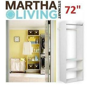 NEW HANGING STARTER CLOSET KIT W2 251621394 MARTHA STEWART LIVING WHITE 14 x 25.25 x 72