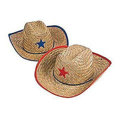 NEW Childs Straw Cowboy Hat With Plastic Star 1 Dozen  BULK FREE SHIPPING (Children's Cowboy Hats Bulk)