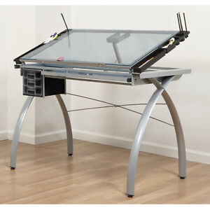 Glass Drafting & Drawing Table
