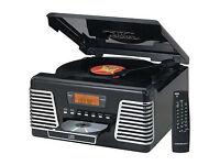 Crosley Record Player ~ Autorama CD Turntable with AM/FM Radio ~ Black