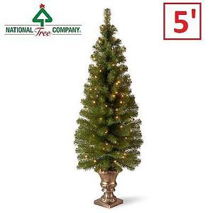 NEW 5' MONTCLAIR ENTRANCE TREE MC7-308C-50 204987550 SPRUCE W/ CLEAR LIGHTS CHRISTMAS