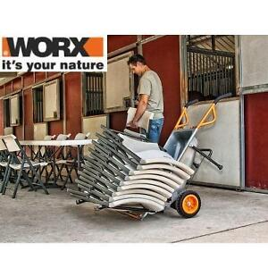 NEW* WORX 4CU AEROCART - 114651899 - DOLLY POT MOWER TRAILER MOVER AND MORE