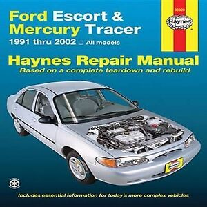 ford escort mercury tracer automotive repair manual 91 02. Black Bedroom Furniture Sets. Home Design Ideas