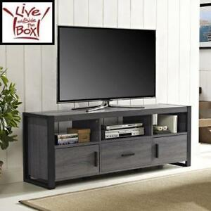NEW* WALKER EDISON TV STAND - 127355824 - BLACK AND CHARCOAL