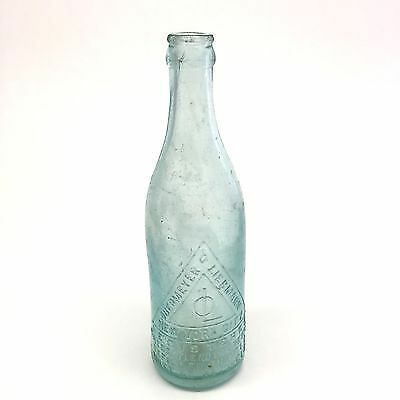 Antique North Eastern Breweries Blackhill Glass Beer Bottle Steam Dray Pictorial