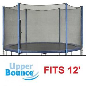 NEW UPPER BOUNCE ENCLOSURE SET - 127383659 - FITS 12' TRAMPOLINE FRAME WITH 3 OR 6 SETS OF W SHAPE LEGS - SAFETY NETT...