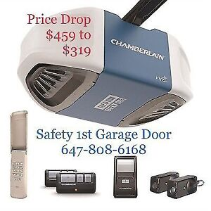 Chamberlain Belt Drive Ultra-quite Opener Installed 647-808-6168