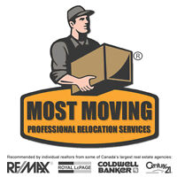 Most Moving, Inc. (Canada's Most Trusted Movers™) 1-800-933-9271