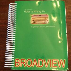 Broadview Guide to Writing 4th Edition