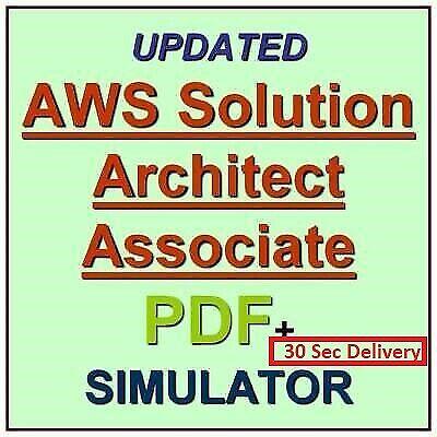 AWS Certified Solutions Architect Associate Exam Q&A &simulator 30Sec Delivery📩