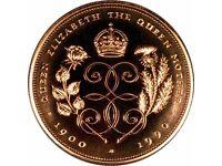 1900-1990 Queen Elizabeth The Queen Mother's 90th Birthday £5 Coin