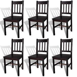 Awe Inspiring Vidaxl Dining Chairs 6 Pcs Wood Brown Gamerscity Chair Design For Home Gamerscityorg