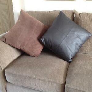 Cushions: Suede & Leather