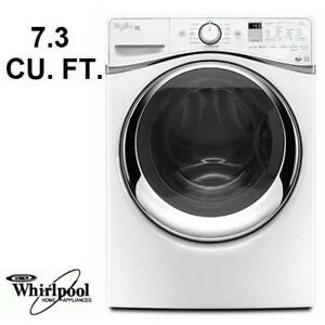 NEW WHIRLPOOL DUET 7.4 CU FT DRYER - 124564534 - 10 STEAM ELECTRIC DRYERS WHITE APPLIANCES LAUNDRY WASHER WASHERS DRYING