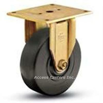 8er9-2 Bassick Er Rigid Plate Caster 8 X 2 Hard Rubber Wheel 750 Lb Capacity