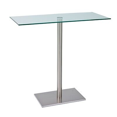 Bar table from dwell with a large glass top supported by for How to make a sturdy table base