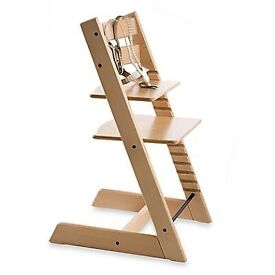 Stoke Trip Trapp high chair and cushion