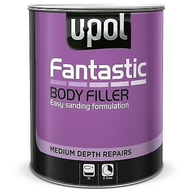 U-POL FANTASTIC POLYESTER CAR BODY FILLER 3LTR UPOL FANT/3 WITH BPO HARDENER