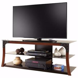 """Insignia Contemporary Rustic TV Stand for TVs Up To 60"""" (NS-MG2156-C) NEW"""
