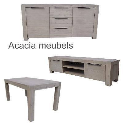 Complete woonkamer acacia meubels waanzinnige actie for Complete woonkamer meubels