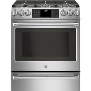 STOVE GE CAFE DUEL FUEL CONVECTION STAINLESS STEEL.MOD.CC2S986SE