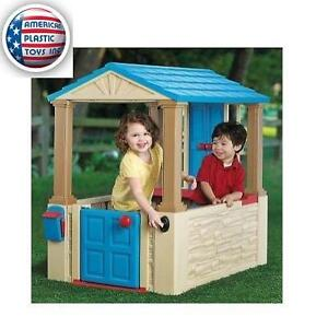 NEW AMERICAN PLASTIC TOYS PLAYHOUSE - 114521252 - WITH WORKING BELL AND MAILBOX