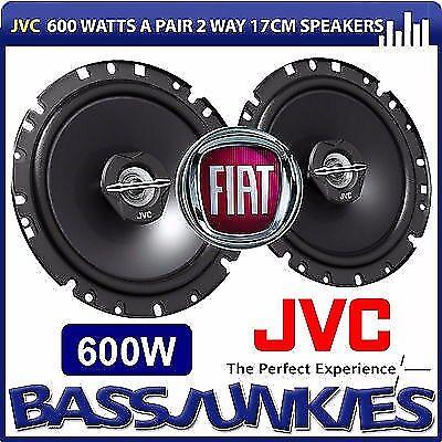 Fiat Grande Punto or EVO JVC 600 Watt 2 Way Front Door Car Speakers Fitting Kit
