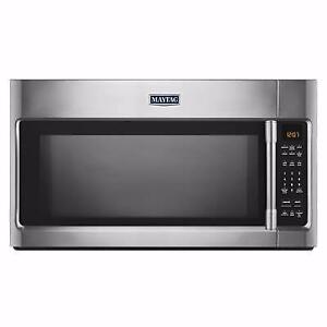 MAYTAG Over-the-Range Microwave with Sensor Cooking, 2 cu ft. stainless