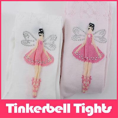 Tinkerbell Cotton Tights Pettiskirt TuTu Pink,White - Tinkerbell Tights