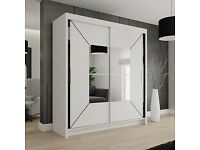 🎊Latest In Stock Brand New 🎊Nicole🎊 Mirror Sliding Doors Wardrobe On Sale🎊Fast Delivery🎊