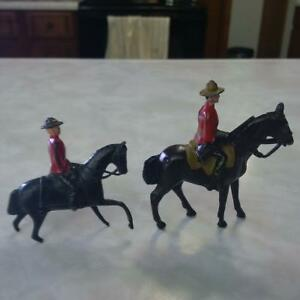 RCMP figures on horses