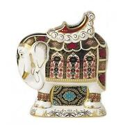 Royal Crown Derby Paperweight Elephant