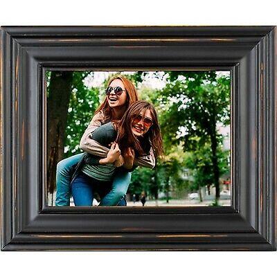 "8 Digital Photo Frame Distressed Black - Polaroid"""