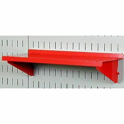 Wall Control Pegboard Shelf 6in Deep Assembly For And Slotted Tool Board Red