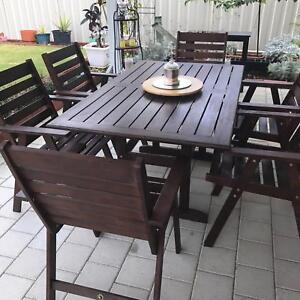 Outdoor Dining Setting Baldivis Rockingham Area Preview
